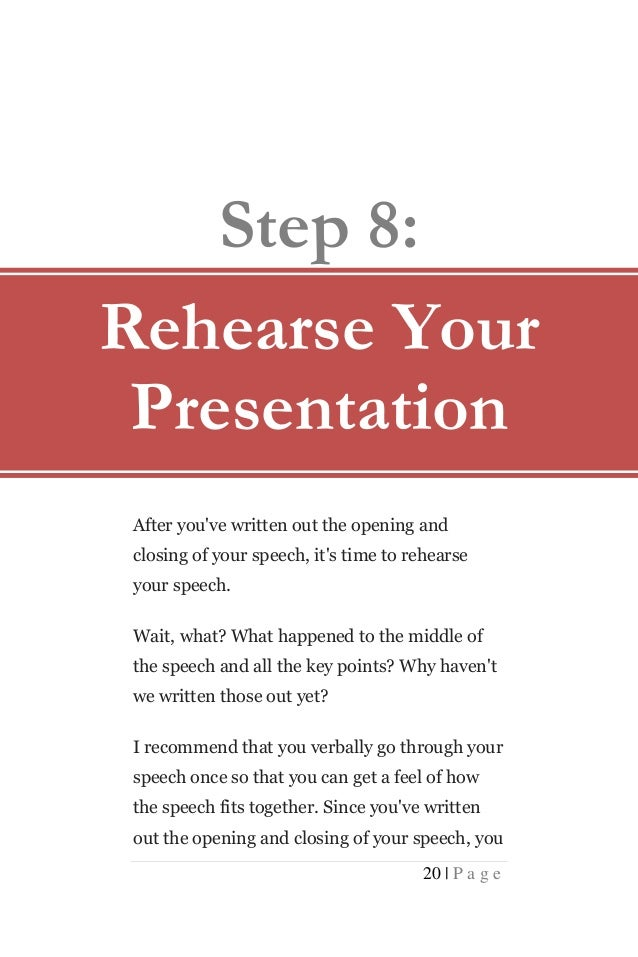 How to write a good presentation speech