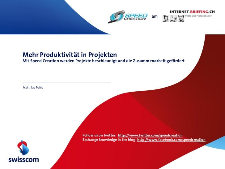 amMehr Produktivität in ProjektenMit Speed Creation werden Projekte beschleunigt und die Zusammenarbeit gefördertMatthias ...