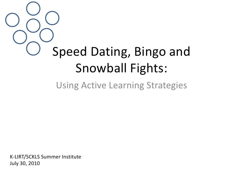 Speed Dating, Bingo And Snowball Fights
