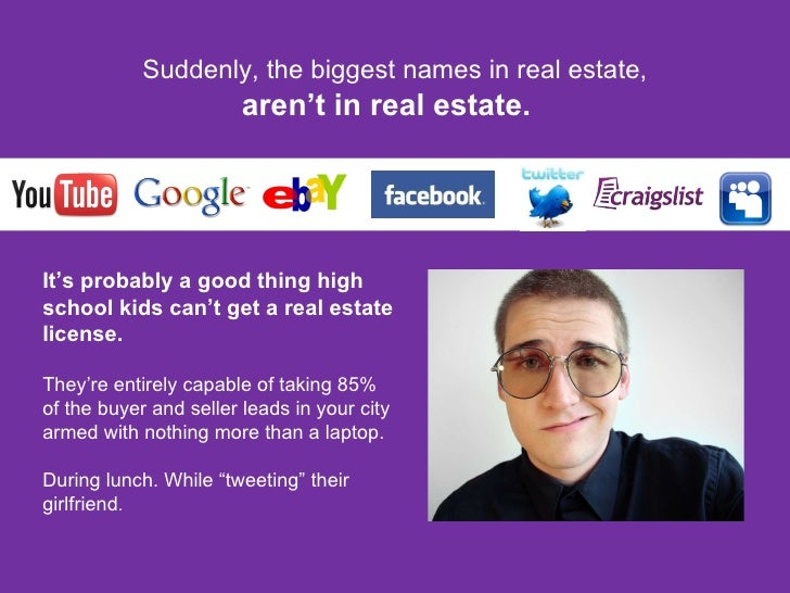 Suddenly, the biggest names in real estate, aren't in real estate.  It's probably a good thing high school kids can't get ...