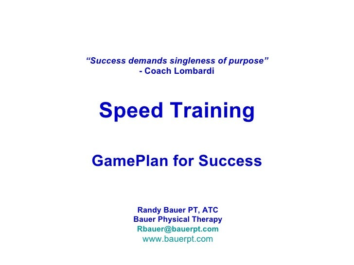 GamePlan for Success:Speed Training Dynamic Warm Up