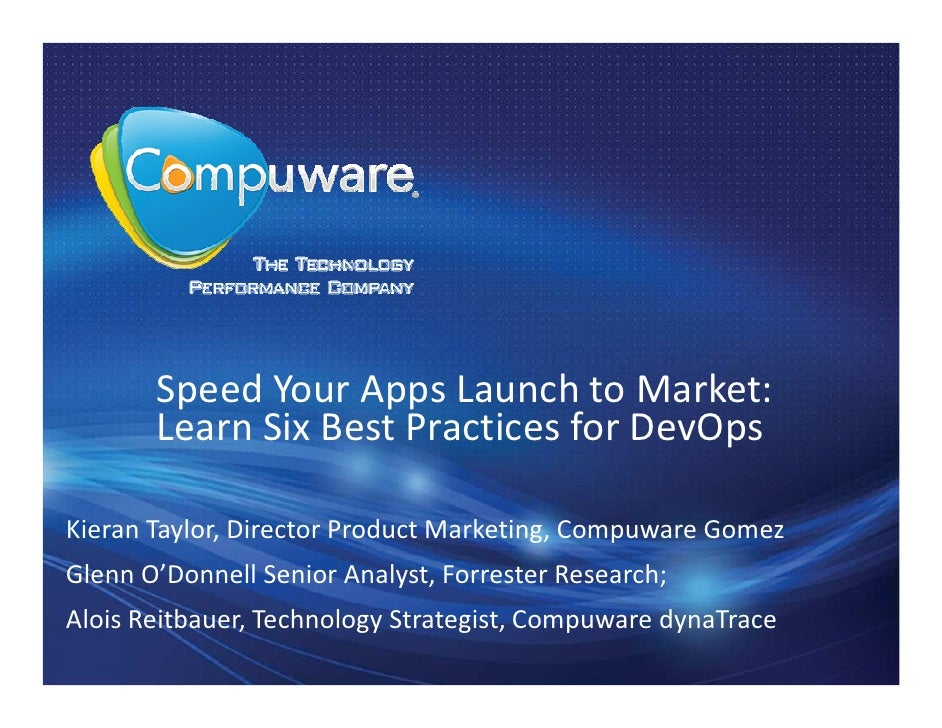 Speed Your Apps Launch to Market: Learn Six Best Practices for DevOps