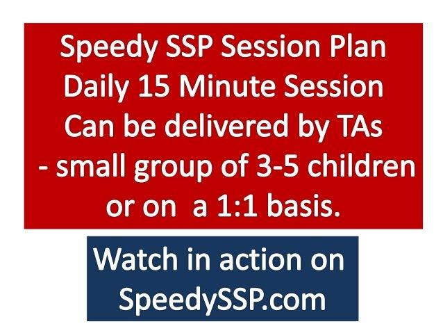 Speedy SSP Session for Schools