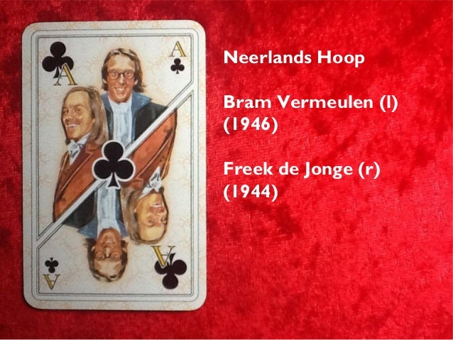 Citaten Kooten En De Bie : Speelkaarten met bekende nederlanders op kaartspel van