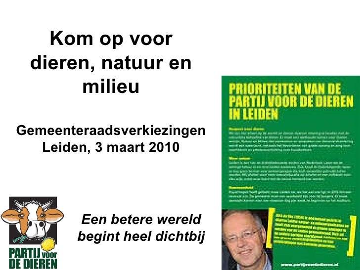 Speerpunten Leiden Partij voor de Dieren