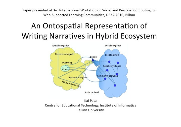 Paper presented at 3rd Interna*onal Workshop on Social and Personal Compu*ng for              Web‐Supported Learning Commu...
