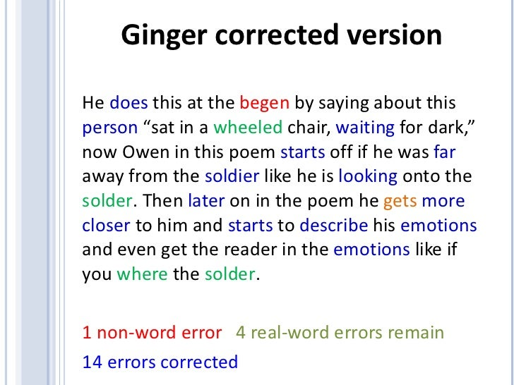 Word correction online