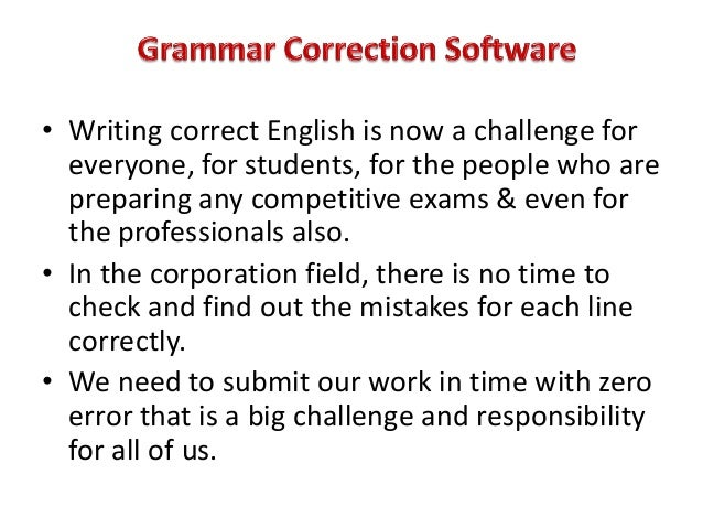 Online grammar corrector