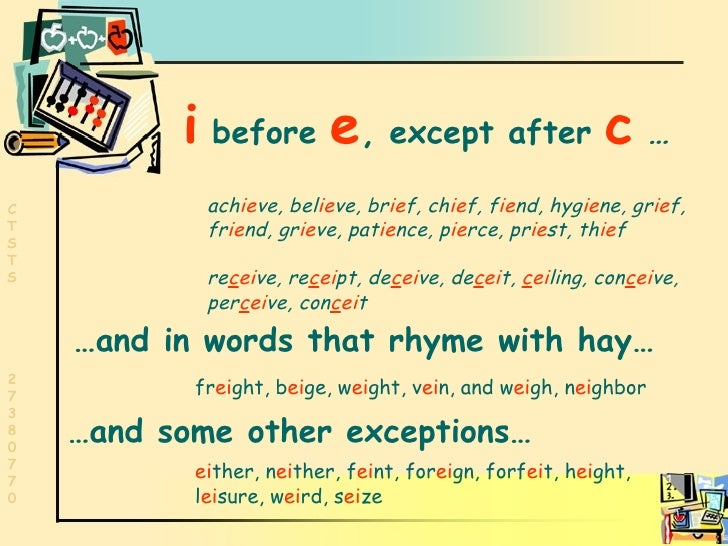 I Before E Exceptions