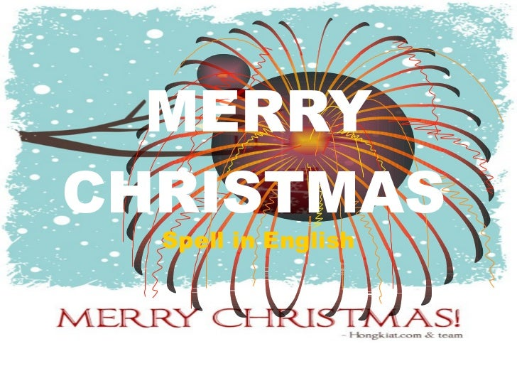 Spelling.merry christmas
