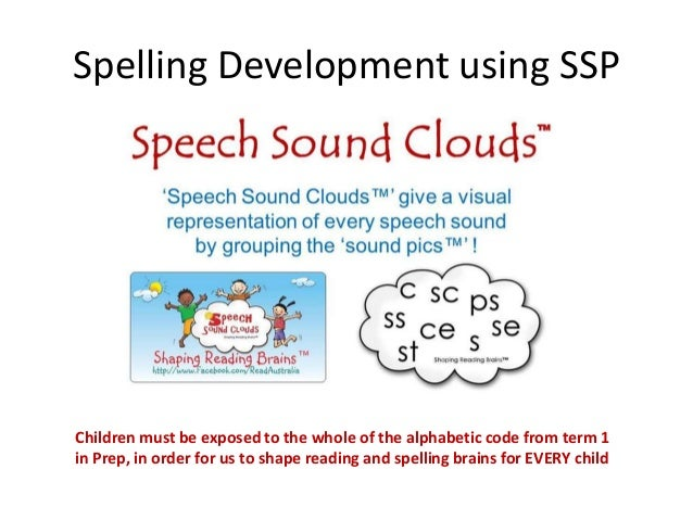 Spelling Development using SSPChildren must be exposed to the whole of the alphabetic code from term 1in Prep, in order fo...
