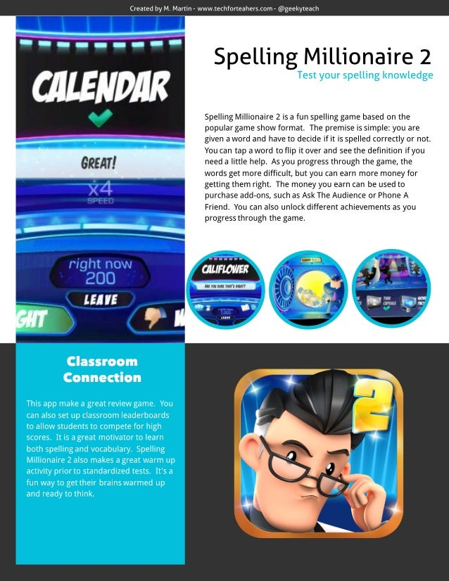 Spelling Millionaire 2 App Review