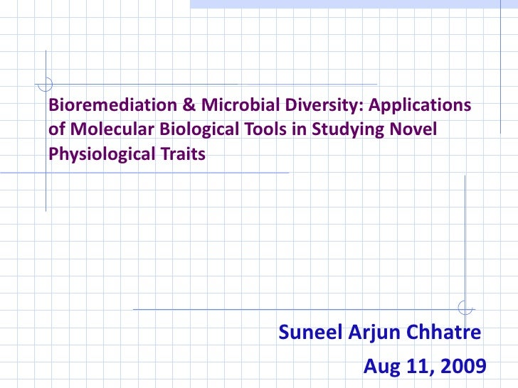 Bioremediation & Microbial Diversity: Applications of Molecular Biological Tools in Studying Novel Physiological Traits Su...