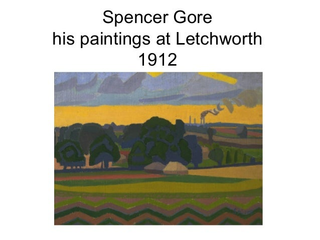 Spencer Gorehis paintings at Letchworth            1912