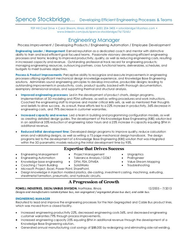 resume of spence stockbridge mechanical engineering