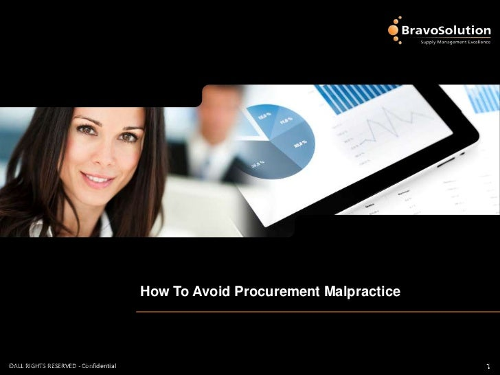 How To Avoid Procurement Malpractice©ALL RIGHTS RESERVED - Confidential©ALL RIGHTS RESERVED - Confidential                ...