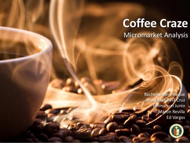Coffee Craze Micromarket Analysis  Rachelle Irene Roque Anna Mae Dela Cruz Emmanuel Junio Martin Revilla Ed Vargas