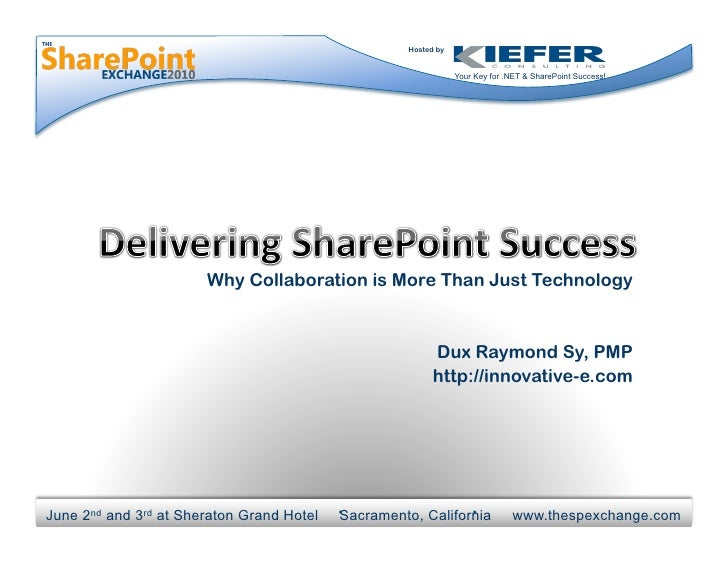 Hosted by                                                                    Your Key for .NET & SharePoint Success!      ...