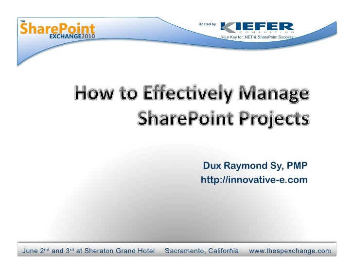 How to Effectively Manage SharePoint Projects