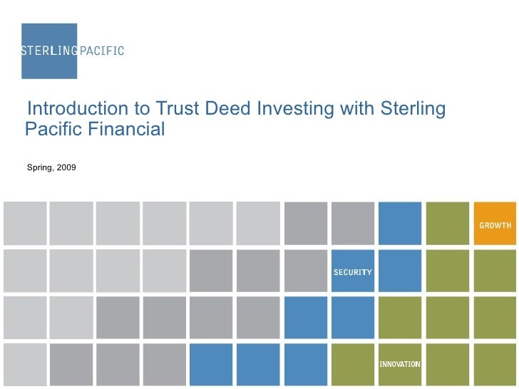 Sterling Pacific Financial - General Introduction
