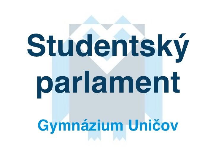 StudentskýparlamentGymnázium Uničov
