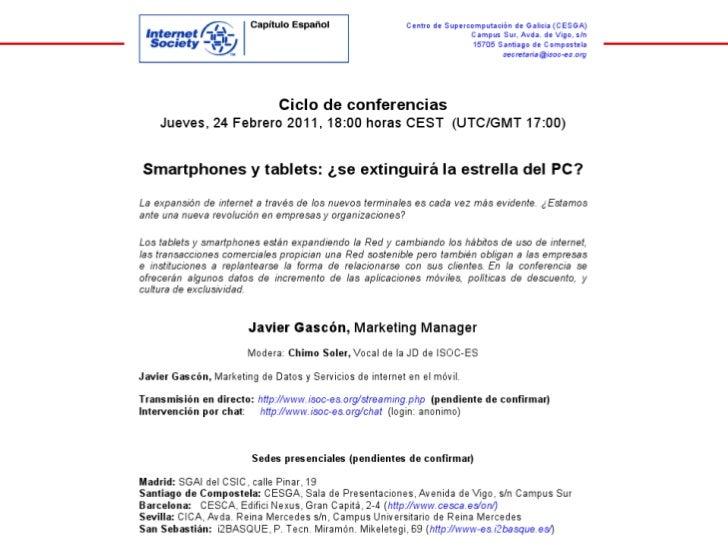 Smartphones y tablets: ¿se extinguirá la estrella del PC?