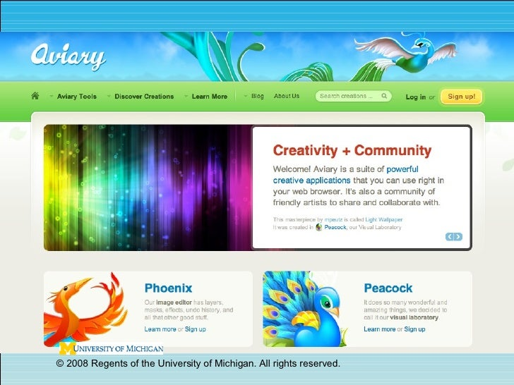 Aviary - A Sweet Suite of Online Graphics Tools