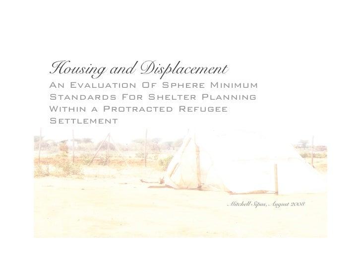 Sphere Housing Standards in Dadaab Refugee Camp