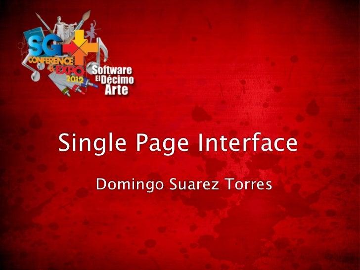 Single Page Interface   Domingo Suarez Torres