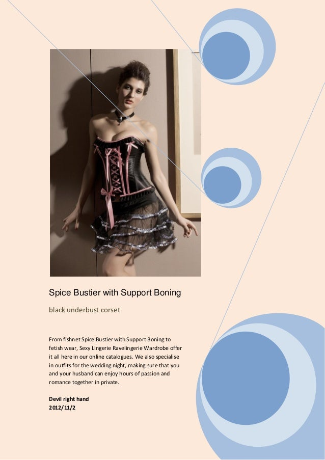 Spice bustier with support boning