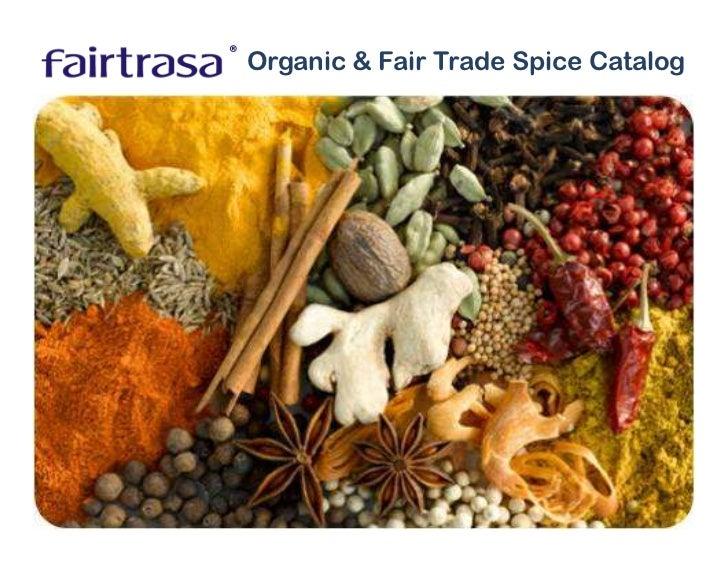 ®     Organic & Fair Trade Spice Catalog