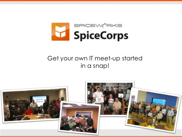SpiceCorps: local meet-ups for IT pros