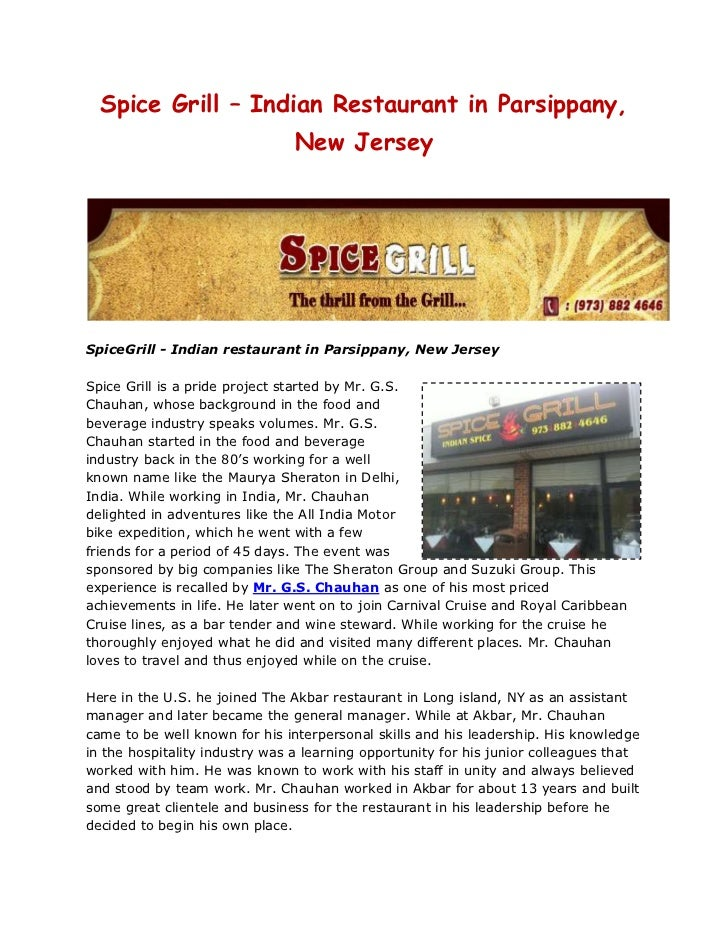 Spice Grill - restaurant in new jersey, indian restaurant in new jersey, restaurant in parsippany