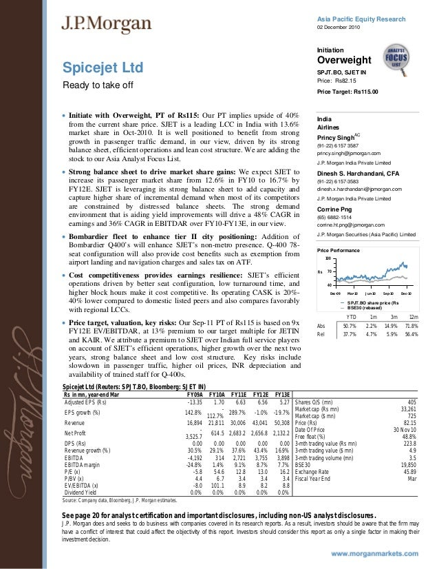 Asia Pacific Equity Research 02 December 2010 Spicejet Ltd Initiation Overweight SPJT.BO, SJET IN Ready to take off Price:...