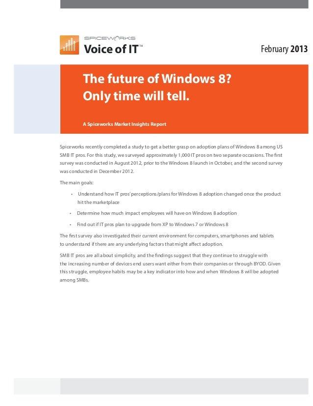 Spiceworks Voice of IT (Windows 8)