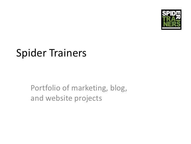 Spider Trainers project portfolio