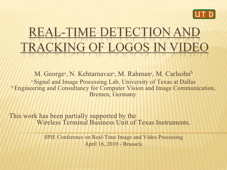 Real-Time Logo Detection and Tracking