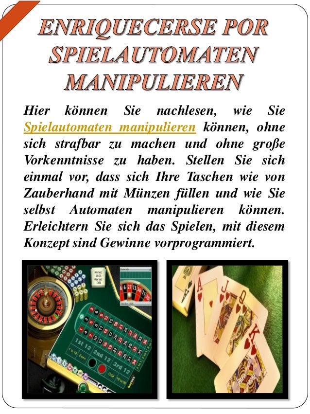 spielautomaten manipulieren es geht