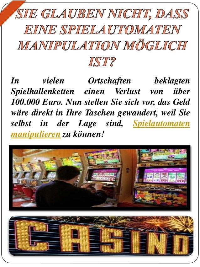 casino spielautomaten manipulieren