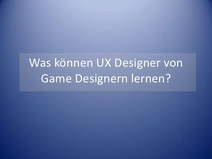 Spielemechaniken und ux design