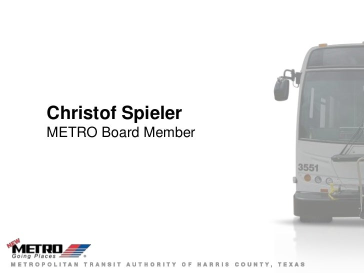 Christof SpielerMETRO Board Member