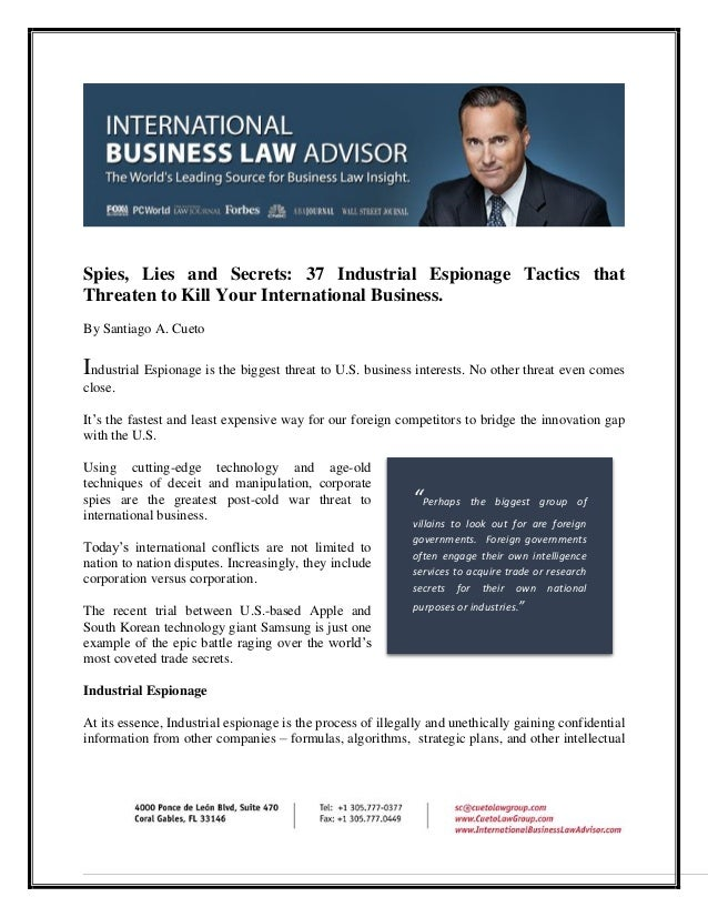 international business law research paper