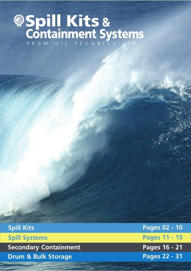 Oil Technics Ltd: Spill Kits & Containment Systems.