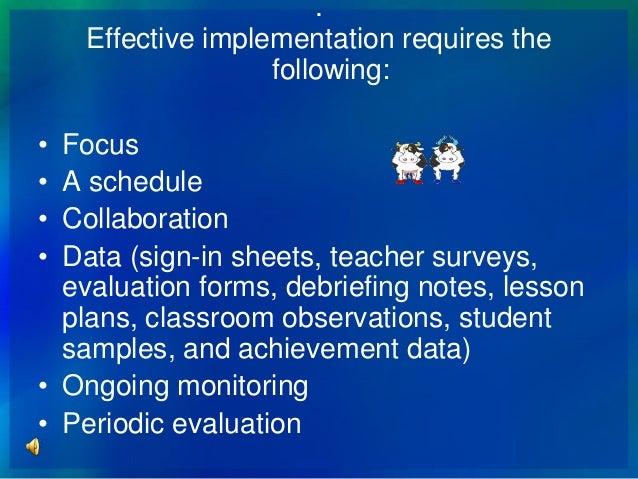 data team and teacher evaluation
