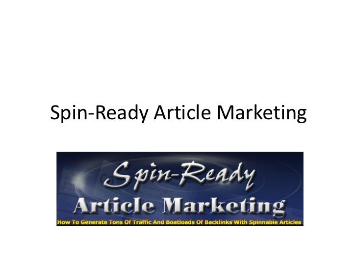 Spin-Ready Article Marketing