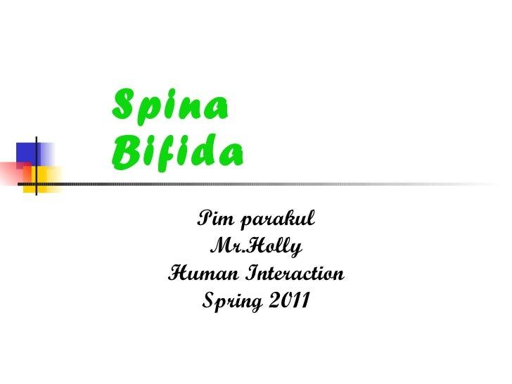 Spina Bifida Pim parakul Mr.Holly Human Interaction Spring 2011