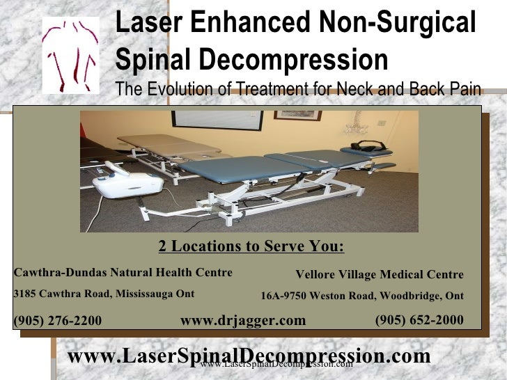 Laser Enhanced Non-Surgical Spinal Decompression The Evolution of Treatment for Neck and Back Pain Insert Product Photogra...