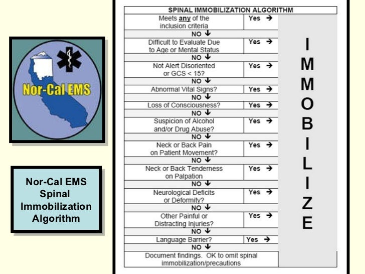 spinal immobilization Achieving full spinal immobilization is not possible and its use has been shown to cause patient harm and no benefit instead, spinal motion restriction should be practiced lbb use has been shown to cause increased pressure ulcers, decreased respiratory function, increased back pain, and result in a false-positive midline vertebral tenderness.