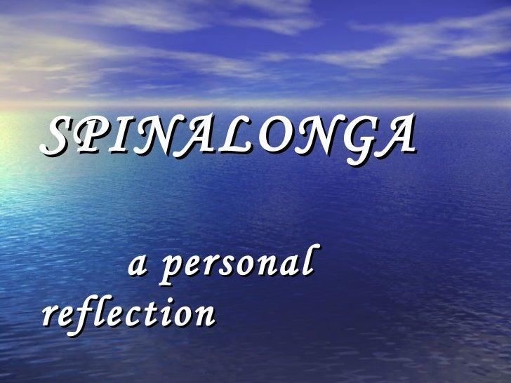 SPINALONGA   a personal reflection