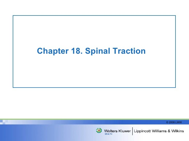 Chapter 18. Spinal Traction